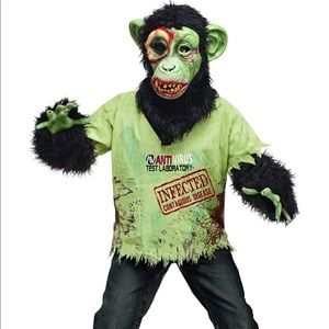 Zombie Chimp Child Costume  Sz L Large 12/14
